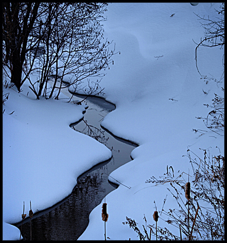 ruisseau sous la neige